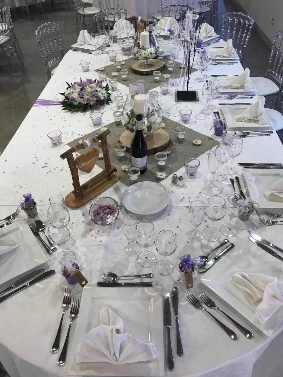 ... Décoration Table Du0027honneur Thème Champêtre Parme ...