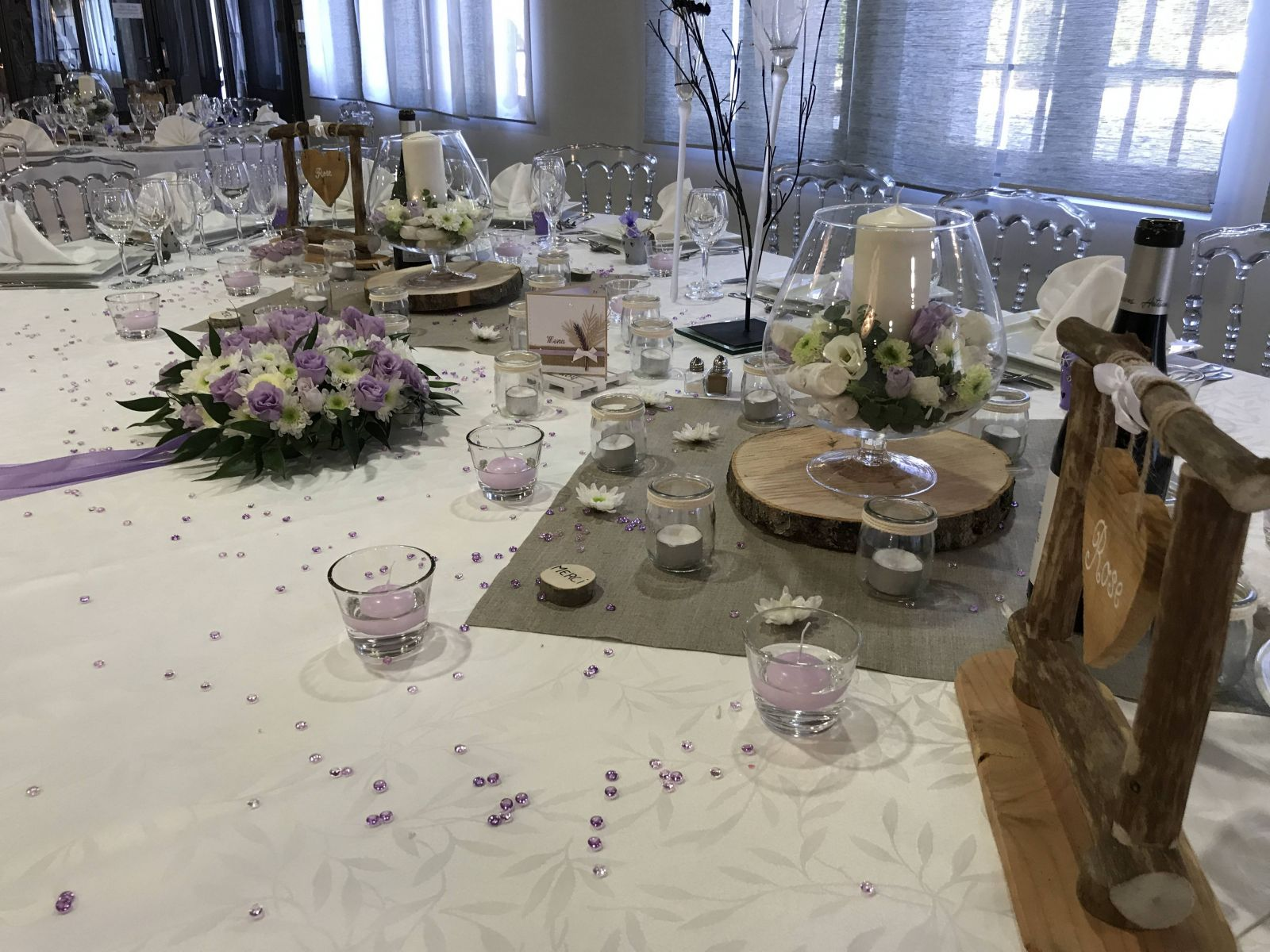 D coration de table pour mariage th me champ tre parme avignon la bastide malaugo - Decoration table champetre jardin la rochelle ...